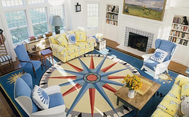 Trendy Color Combinations For Modern Interior Design In Blue And Yellow