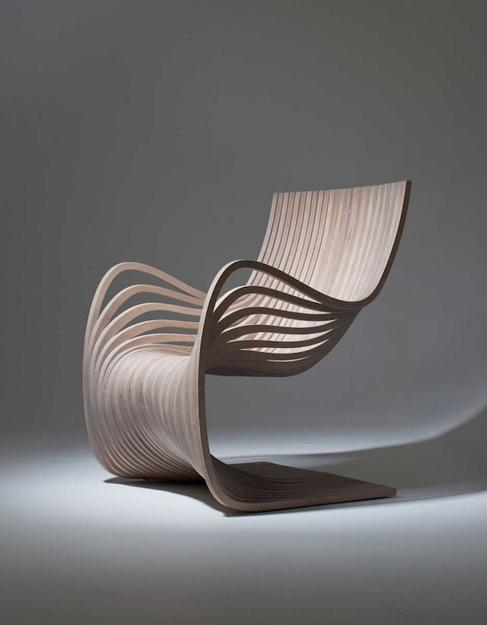 Wooden Chair Showing Movement And Material Conscious Design Inspiration Cool Furniture Design