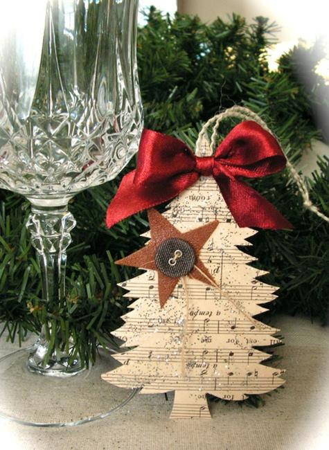 christmas tree ornaments and paper crafts for eco friendly christmas - Christmas Decorations For Work