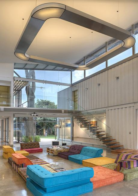 modern house in costa rica recycling empty shipping containers