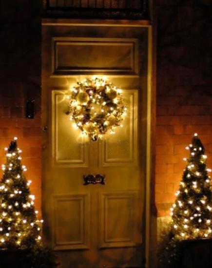 door decorations with lights - Small Christmas Door Decorations