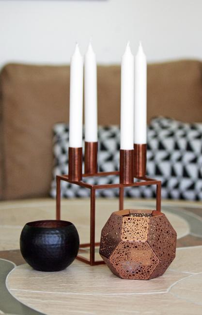 Metal accent kitchen copper decorations
