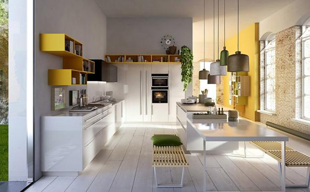 New Kitchen Design with Modular Furniture from Snaidero