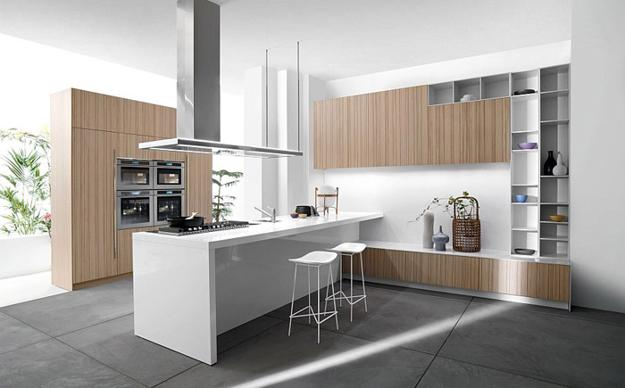 Space Saving Modular Furniture For Modern Kitchen Design With Unique Island