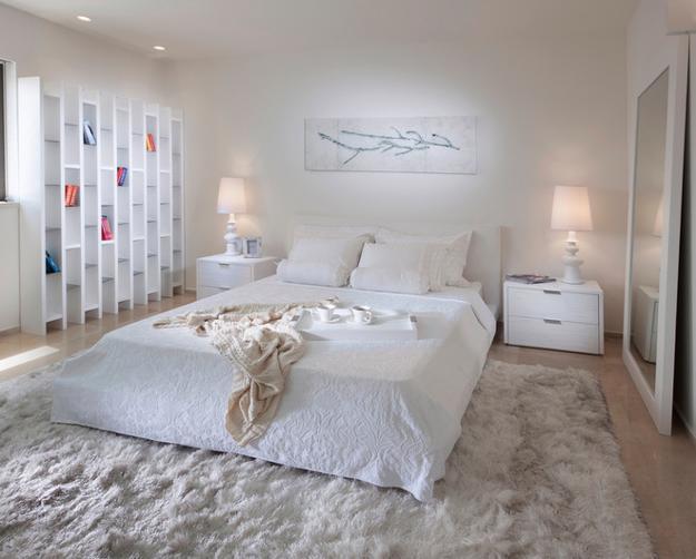White Decorating Ideas, Modern Bedroom Design