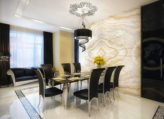 Modern Dining Room Decorating With Arabic Motifs