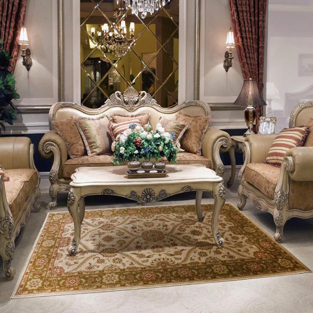 Modern Living Room Design With European Furniture And Azerbaijani Floor Rug