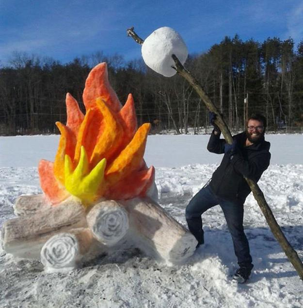 Home Design Ideas Build: Snow Sculptures Creating Fun Outdoor Decorations In Winter