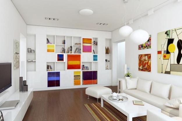 Bon Modern Interior Design And Decor In Suprematist Style, Square Shapes And  Bright Color Design