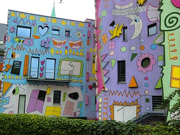 Colorful Exterior Wall Decorations
