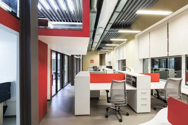 European Office Design Ideas Creative Elements And Bright Interior