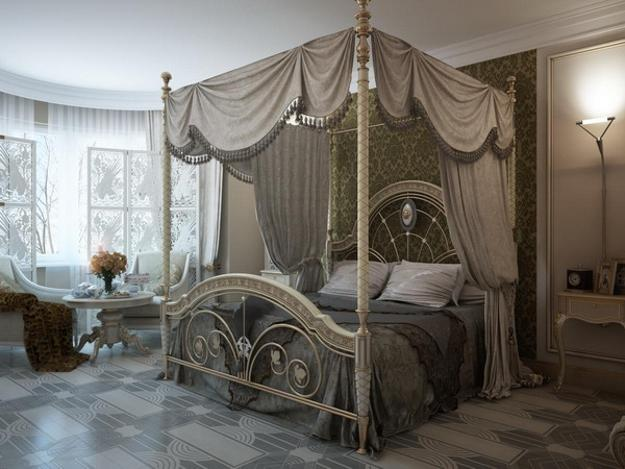 22 classic french decorating ideas for elegant modern for Elegant canopy bedroom sets