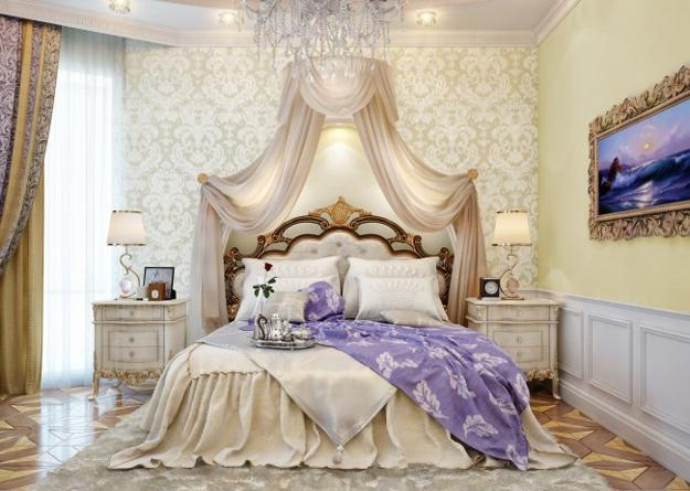 Gentil Carved Wood Bed, Mirror And Night Table, French Decorating Ideas Fir Modern  Bedroom Designs In Vintage Style