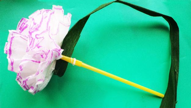 Recycling Plastic Straws And Making Paper Flowers Simple Paper Crafts For Kids