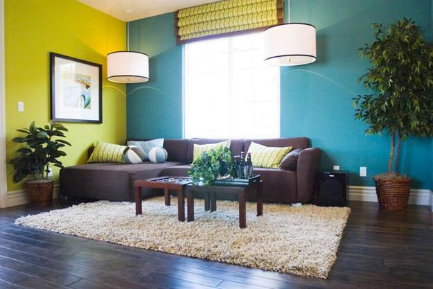 Trendy Interior Colors, Coral Colors, Raspberries And Green Colors