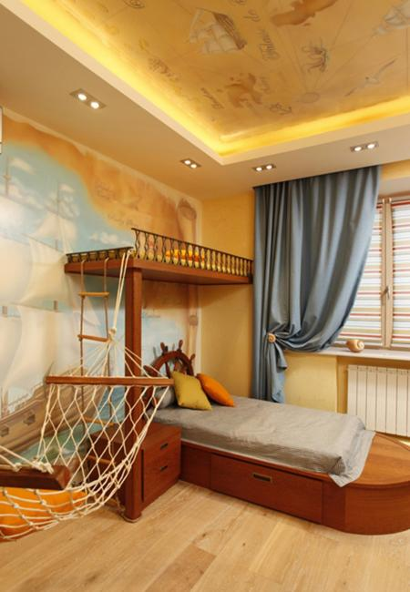 Exceptionnel Sculptured Floor Rug And Blue Room Colors For Children Bedroom Decorating  With Nautical Decor Theme