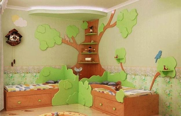 Green Children Room Home Design Ideas