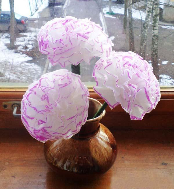 handmade decorations, paper flowers