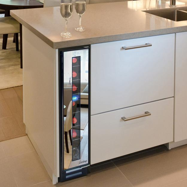 Narrow Cooler For Space Saving Modern Kitchen Design