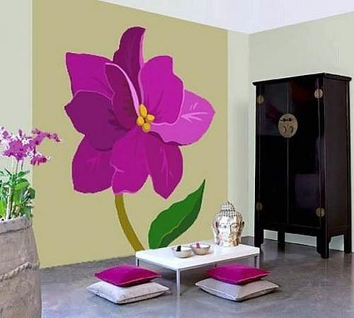 Flower Painting Ideas For Wall Decoration