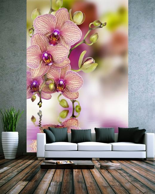 interior decorating with painted flowers on walls and flower wallpaper patterns