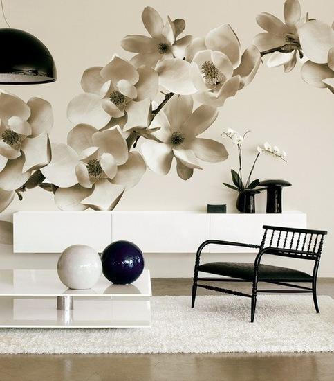 Superieur Black And White Floral Designs For Spring Decorating In Neutral Colors