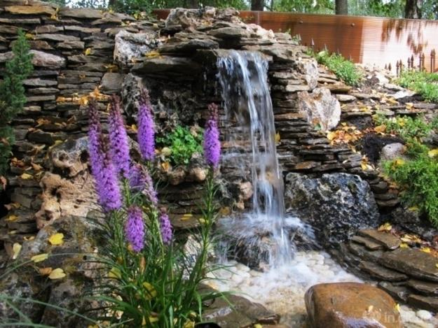21 waterfall ideas to add tranquility to rock garden design for Garden pond design software free download