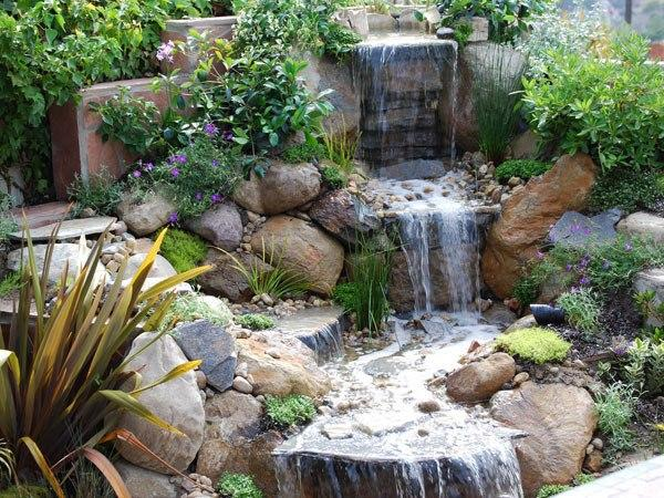 21 Waterfall Ideas to Add Tranquility to Rock Garden Design on Rock Garden Waterfall Ideas id=14897