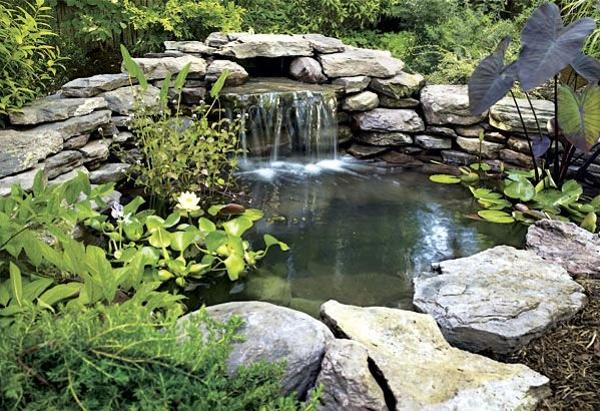 21 Waterfall Ideas to Add Tranquility to Rock Garden Design on Rock Garden Waterfall Ideas id=75314