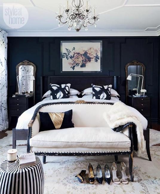 See Great Bedroom Decor Ideas With Black Furniture This Year @house2homegoods.net