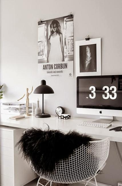 Black And White Decorating, Ideas For Home Office Designs