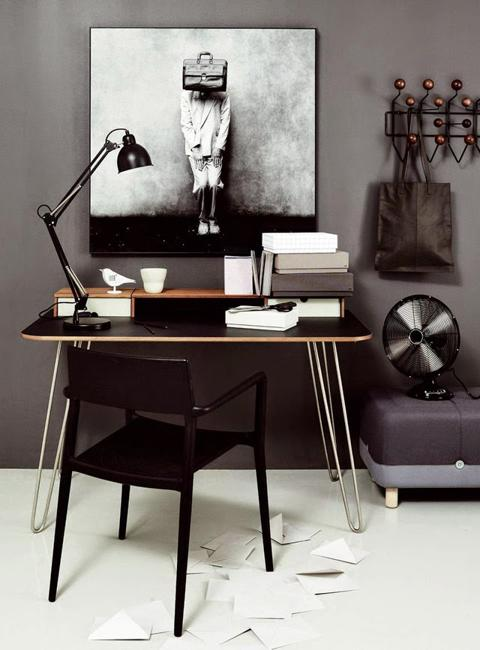 Black and white office design Modern Black And White Decorating Ideas For Small Home Office Designs And Craft Rooms Lushome Black And White Decorating Ideas For Home Office Designs