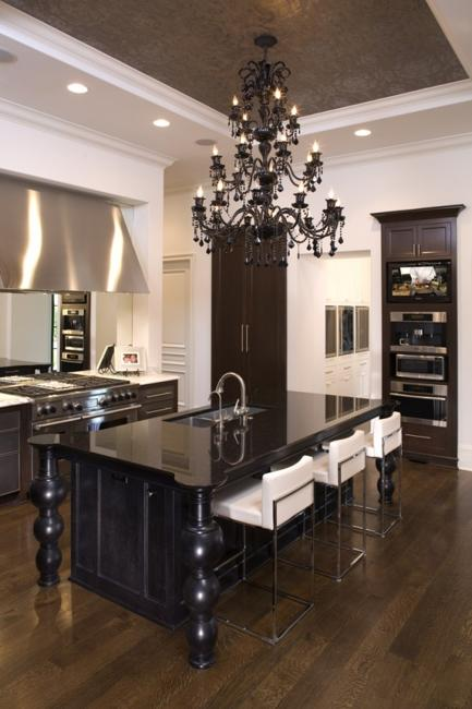 How to create modern kitchen design and decorate kitchen - Classic contemporary kitchen design ...