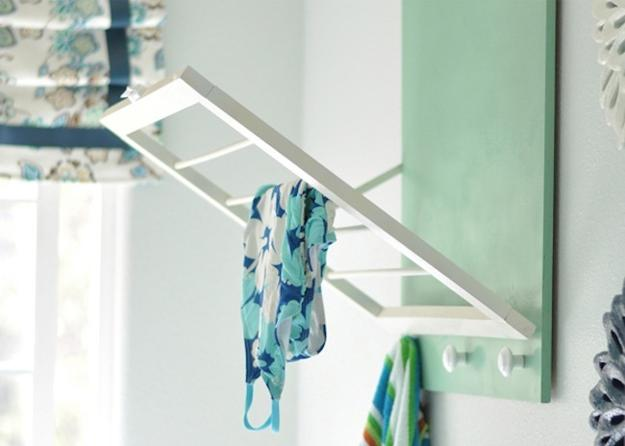 space saving racks for laundry room design