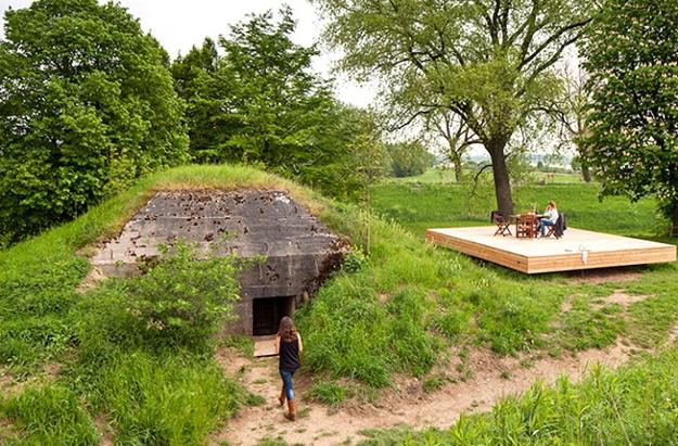 vacation home in voncrete bunker