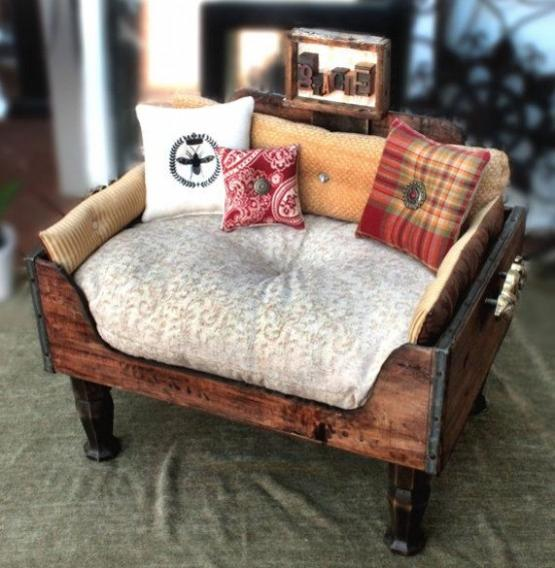 Recycling Old Furniture Suitcases Wooden Boxes For Pet Beds