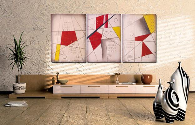Modern Interior Design with Symbolic Geometric Shapes and Forms