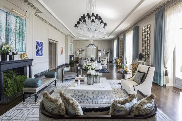 Modern Interior Design With Symbolic Geometric Shapes And