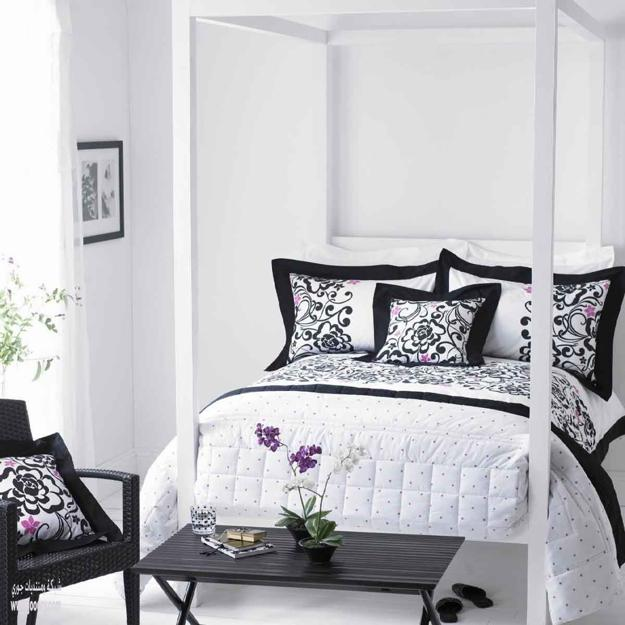 modern bedroom design with black and white | 18 Stunning Black and White Bedroom Designs