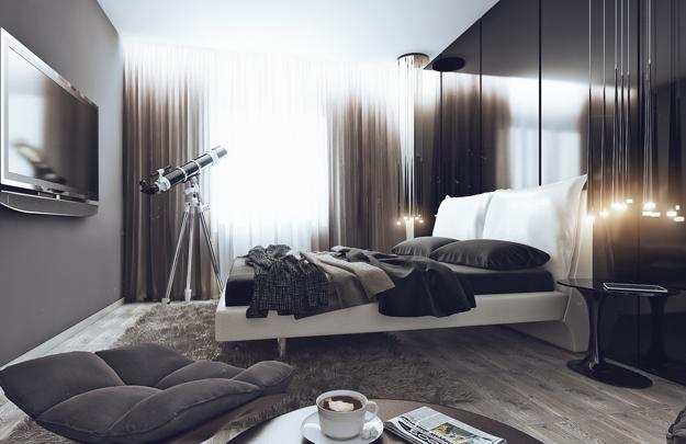 18 stunning black and white bedroom designs 16456 | modern bedroom design black white room decorating 4
