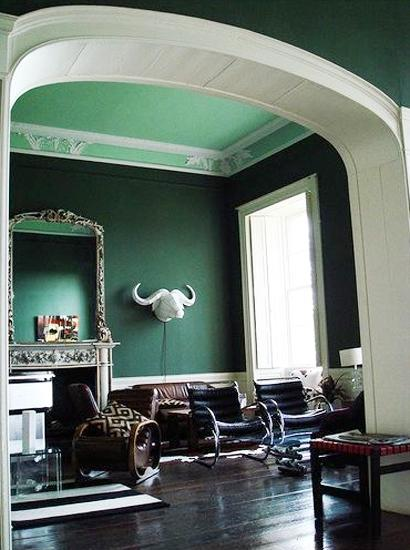 Modern Interior Design And Decor In Malachite Green Colors
