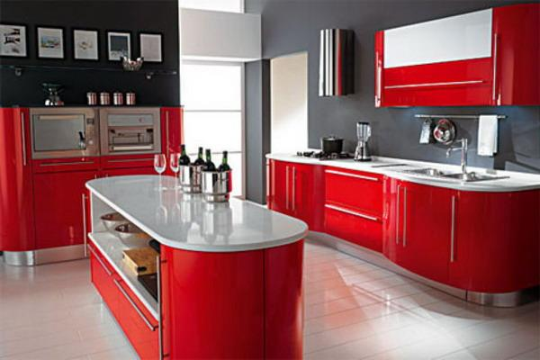 Modern Red Kitchen Ideas Magnificent Decorating Design