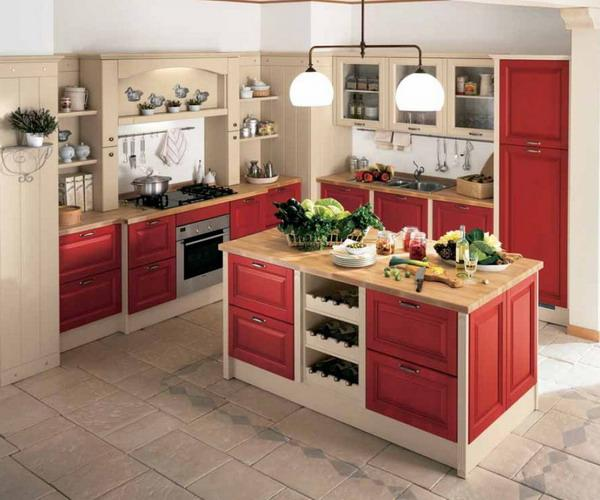 Kitchen Design Red And White: 22 Ideas To Create Stunning Red And White Kitchen Design