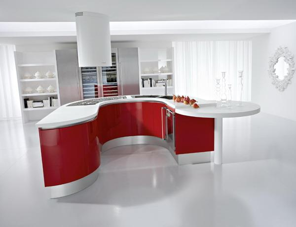 Red Kitchen Countertops White Decorating Ideas And Cabinets