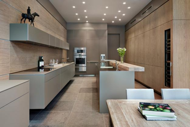 kitchen interiors in modernist style
