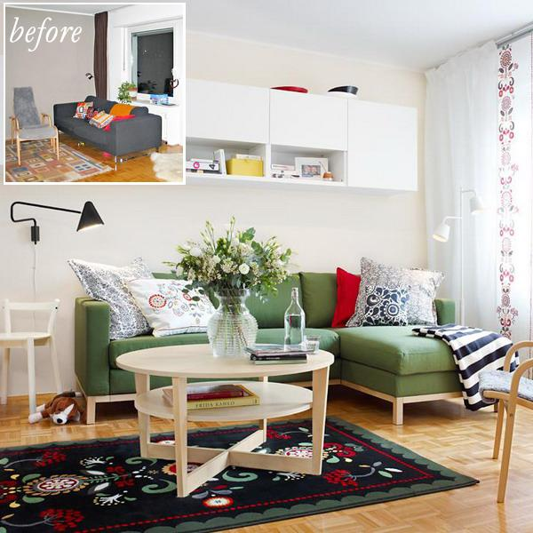 living room makeover and interior redesign