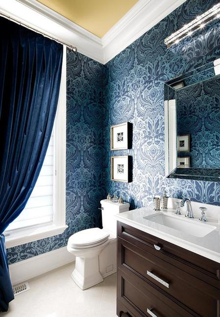 latest trends in bathroom wall decorating with wallpaper patterns
