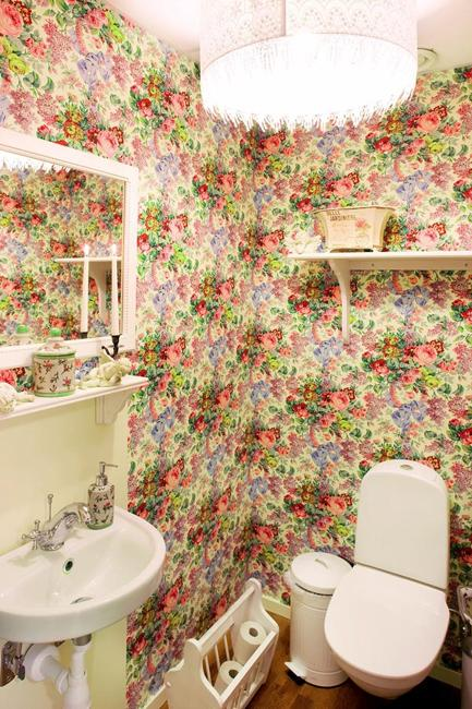 Modern Bathroom Design And Decorating With Wallpaper