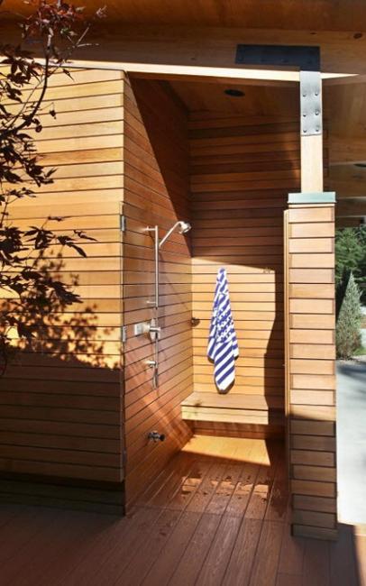 Wooden Wall Bathroom