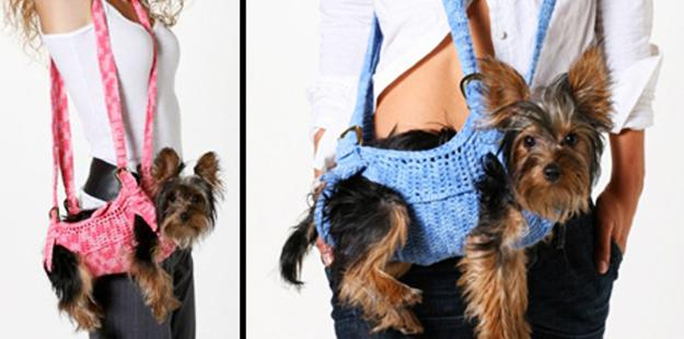 Knitted Pet Bags For Small Dogs